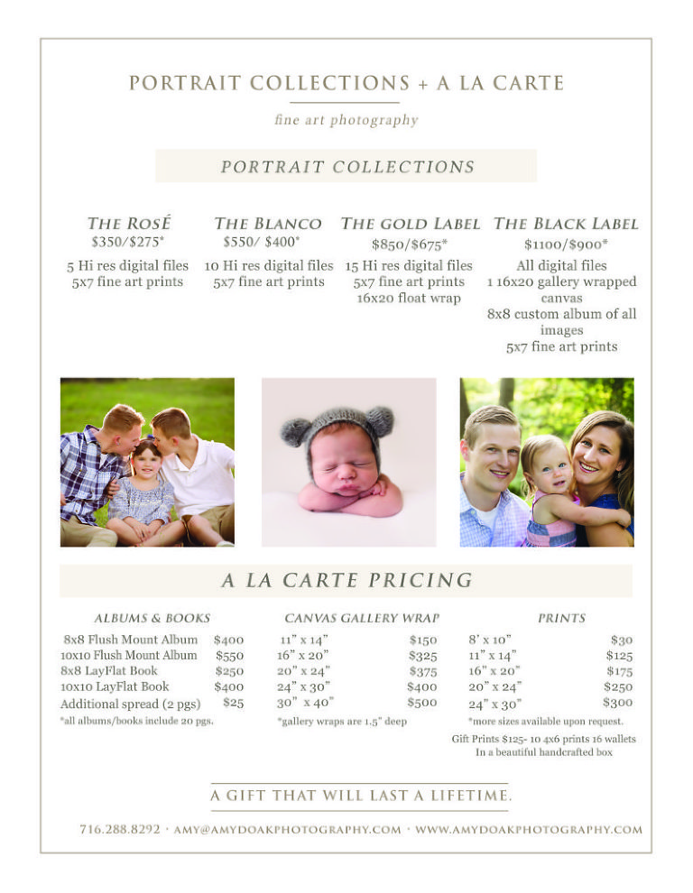 Portrait Collections & Art Products - Amy Doak Photography